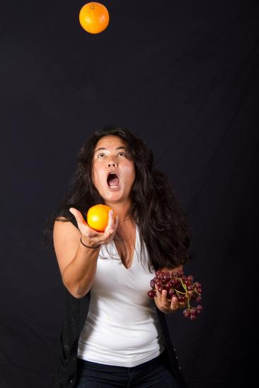Karen juggling